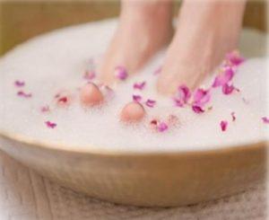 bain de pieds bicarbonate de soude